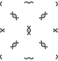 dna spiral pattern seamless black vector image