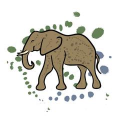 elephant hand drawn clip art vector image