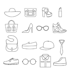 Fashion Accessories Line Icon Set vector