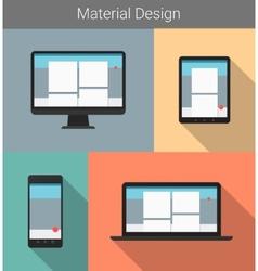 Flat modern responsive material design on various vector image