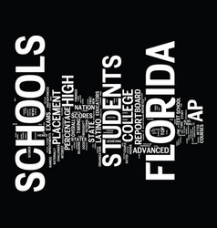 florida schools get great ap grades text vector image