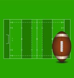 Football field american ball vector