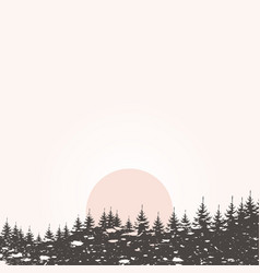Forest landscape4 vector