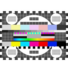 Glitch error signal Loss of the television signal vector
