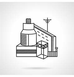 Grain factory flat line icon vector
