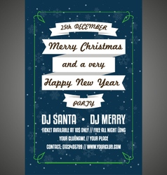 Happy new year party poster vector