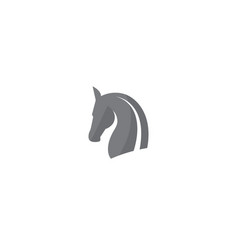 horse head and steed for logo design vector image