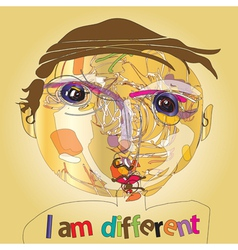 i am different vector image