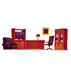 luxury office in old antique style furniture set vector image