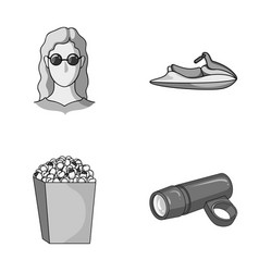 Medicine cinema and other monochrome icon in vector