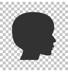 People head sign Dark gray icon on transparent vector image