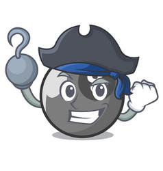 Pirate billiard ball character cartoon vector