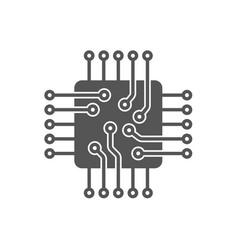 processor icon microchip icon cpu icon vector image