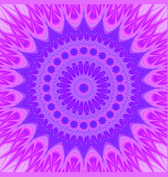 Psychedelic mandala star fractal ornament vector