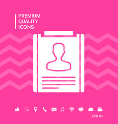 Resume symbol icon vector