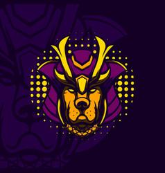 ronin dog mascot vector image