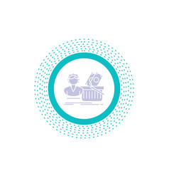 salary shopping basket shopping female glyph icon vector image