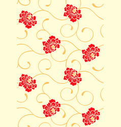 seamless chinese floral pattern vector image