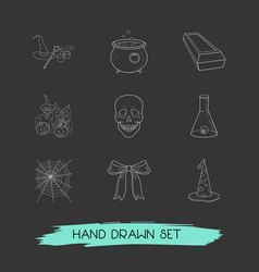 Set feast icons line style symbols with festive vector