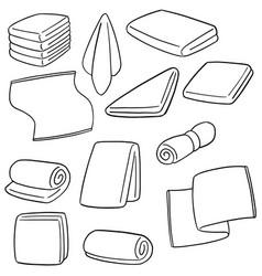 set of towel vector image