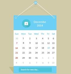 Shadow calendar vector image