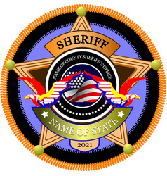 sheriffs badge on a white background vector image
