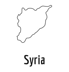 syria map thin line simple vector image