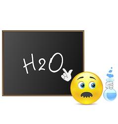 Teacher of chemistry vector