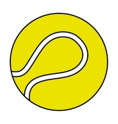 tennis sport ball equipment icon vector image