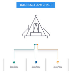 Tent camping camp campsite outdoor business flow vector
