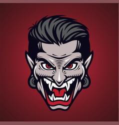 vampir head mascot logo design vector image