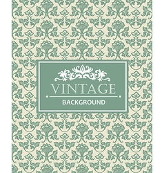 Vintage background antique victorian silver vector