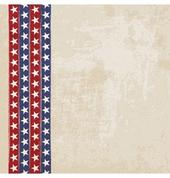 Vintage background with stripes and stars vector image