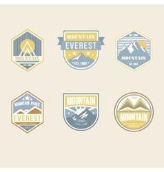 Vintage Outdoor Camp Badges and Logo Emblems vector image