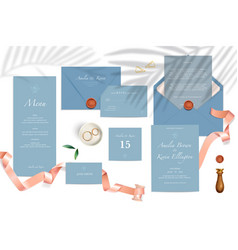 wedding realistic mockup vector image