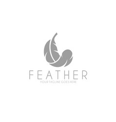 White feather vector