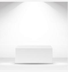 white square platform white interior vector image
