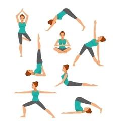 Yoga Set flat style vector
