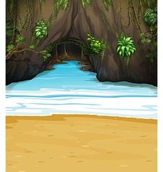 A big cave vector image