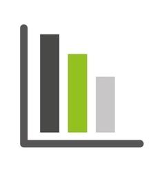 bars statistics isolated icon design vector image