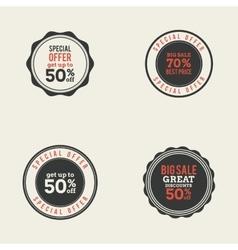 Big Sale Labels vector image