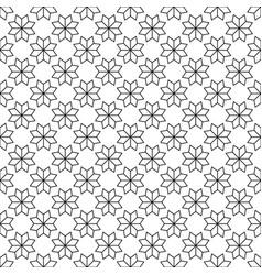 black flower star japanese seamless on white vector image vector image