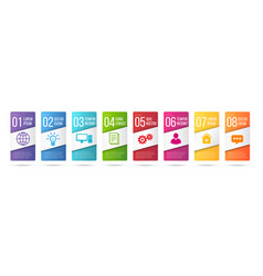 business infographics cards or labels icons set vector image