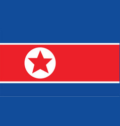 korea north flag for independence day and vector image