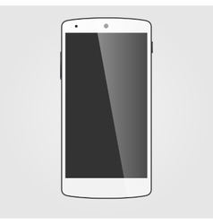 Modern white touchscreen cellphone Tablet vector image vector image