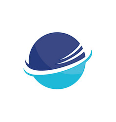 planet globe sphere color logo image vector image vector image