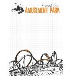 Roller Coaster on Checkered Background vector image vector image