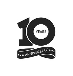 10 years anniversary pictogram icon 10th vector image
