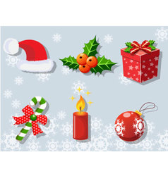 Christmas set of icons collection 2 vector image