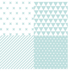 cute set of baby boy seamless patterns with fabric vector image vector image